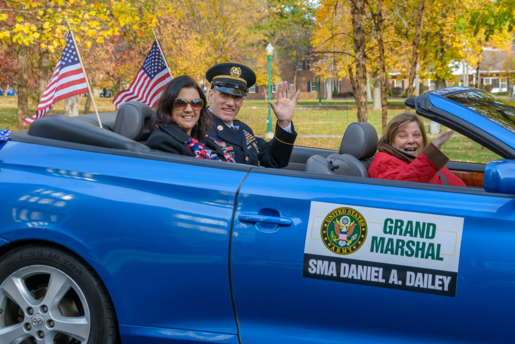 Grand Marshal SMA Daniel A Dailey, part of the parade in Palmerton, PA