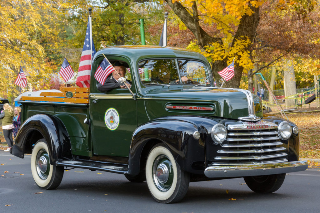 Antique Mercury pickup truck , representing the Vietnam Veterans of Carbon County, PA.